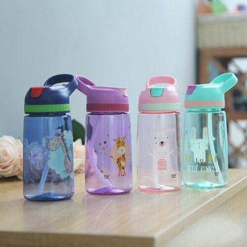 450ml Kids Water Bottle With Straw BPA Free Children Sport W