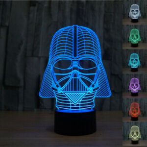 3D Darth Vader Star Wars color changing lamp 100% NEW