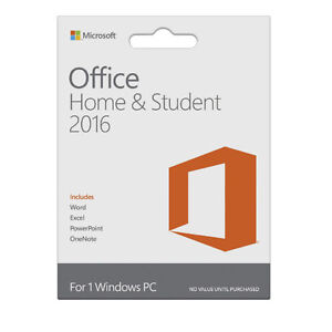MS office Home and student 2016 or 2013