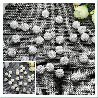 10mm 12mm 15mm Round Pearl Plastic Beads Lot Craft  Jewelry Making Wholesale