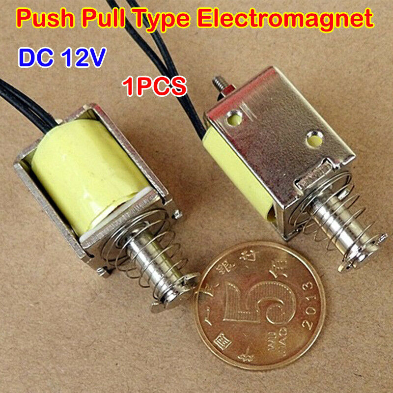 Micro Electromagnet DC12V Push Pull Rod Through Impact Type 10mm Stroke DS-0520S