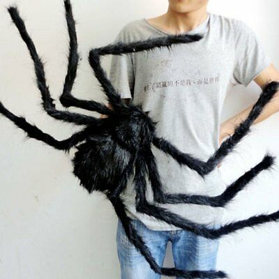 Spider Halloween Decoration Haunted House Prop Indoor Outdoor Black Giant 300mm](Giant Outdoor Spider Decoration)
