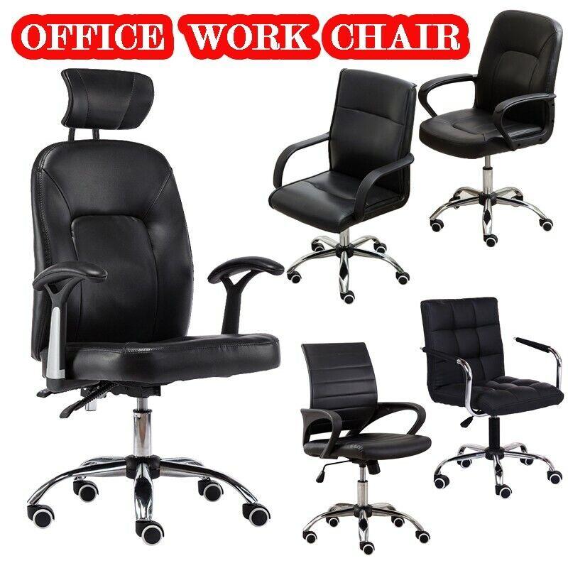 Executive Home Office Chair PU Leather Computer Desk Task Ga