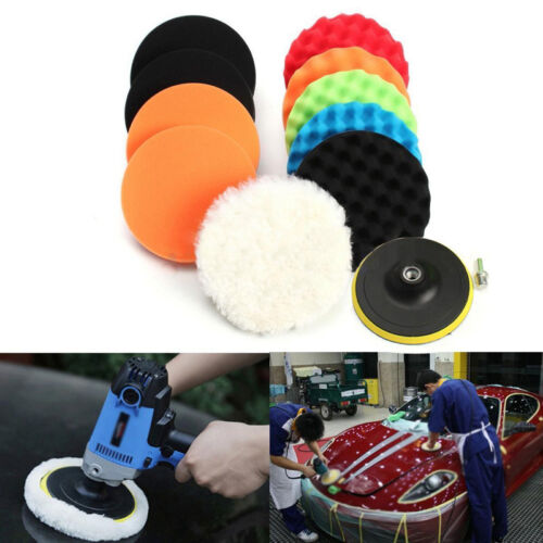 11Pcs 3/4/5/6/7 Buffing Sponge Polishing Pad Kit Set For Car Polisher Buffe