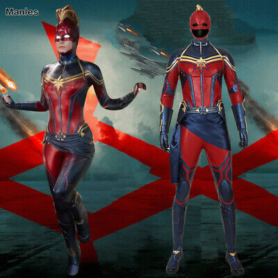 Avengers 4 Endgame Ms Marvel Cosplay Carol Danvers Costume Captain Marvel Outfit