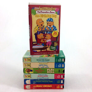 7 Berenstain Bears VHS Video Tapes 17 Episodes Cartoons VIntage
