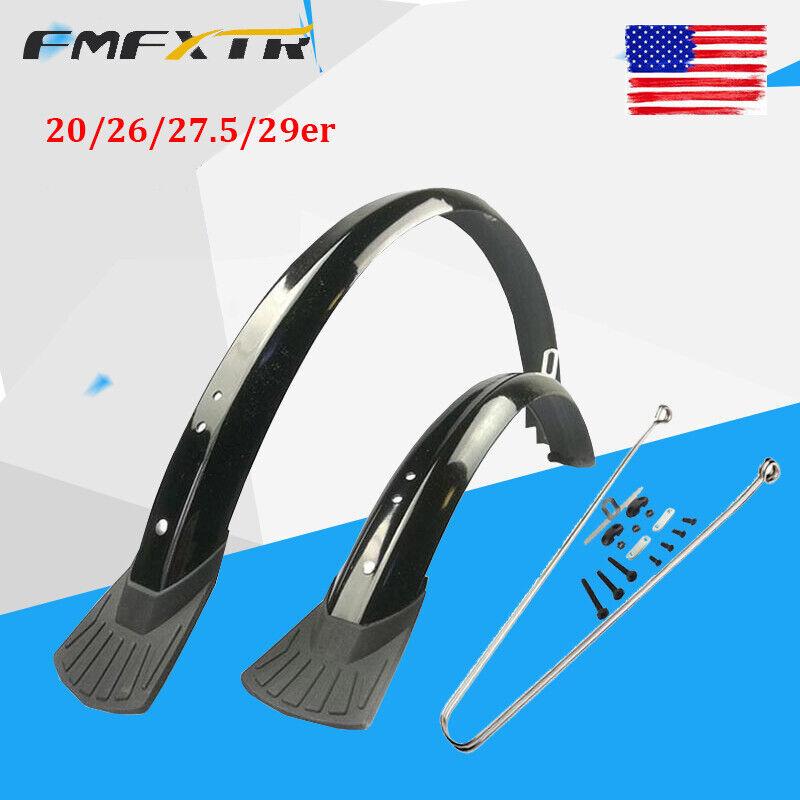 "FMFXTR Fender 20/26/27.5/29"" Full Length Plastic MTB/Folding Bike Mudguard set"