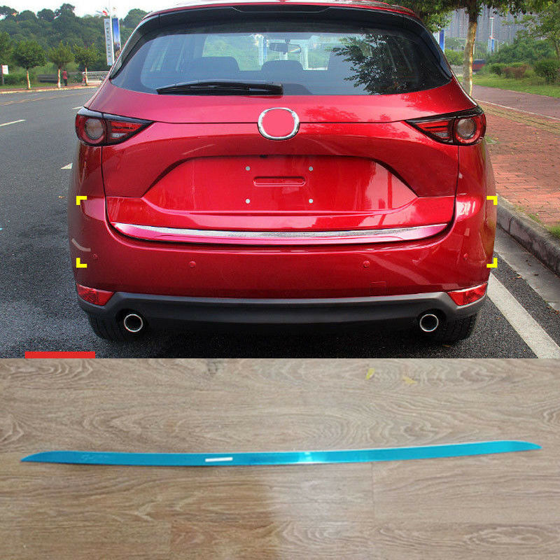 FOR MAZDA CX5 2017-2018 STAINLESS STEEL REAR TRUNK TAIL GATE DOOR LID COVER TRIM