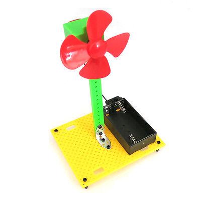 1set 9*7.5*14cm 3V Power DIY Fans Toy Electronic Kit Education Model Hobby Toys