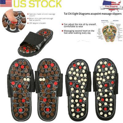 Acupressure Magnetic Health Care Foot Shoes Massager Reflexology Sandals Slipper (Magnetic Slippers)
