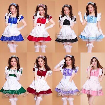 Damen Japanisch Kawaii Kellnerin Kostüm LOLITA FRANZÖSISCHES - Dienstmädchen Kostüm Japanische