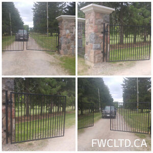 Wrought iron metal steel fences, railings, gates, pool fence