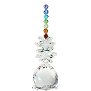 HANGING CRYSTAL SUNCATCHERS WINDOW SUN CATCHER SWAROVSKI HOME GARDEN LIGHT NEW