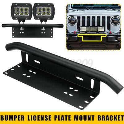 23 inch Car Front Bumper License Plate Bull Bar Mount Bracket For LED Light Bar