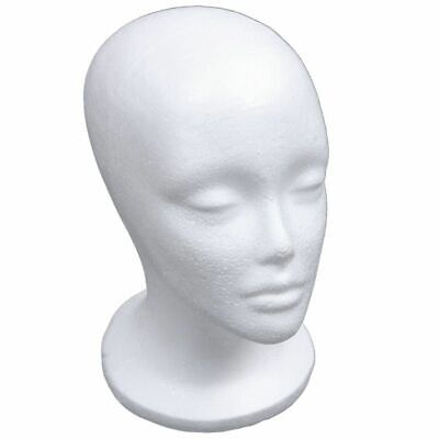 Mannequin Head 53cm Model Female Foam Hat Wig Jewelry Display Stand Rack White