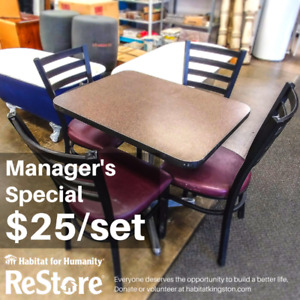Manager's Special: Table Sets for $25.00!