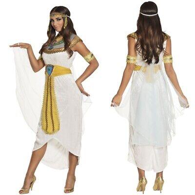 Römerin Griechin Anuket Damen Kostüm Kleid mit Gürtel + Kopfschmuck - Karneval