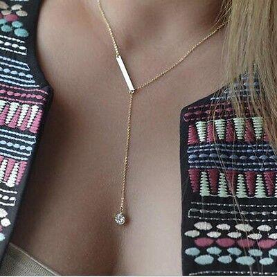Fashion Crystal Pendant Choker Chunky Statement Bib Charm Chain Necklace Jewelry