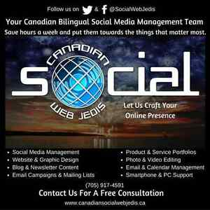 Canadian Bilingual Social Media Management Services Peterborough Peterborough Area image 1