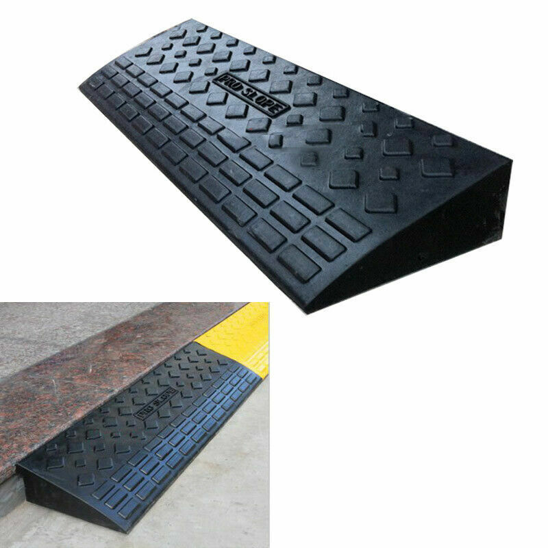 4inch High Heavy Duty Rubber Curb Ramp for Cars Motorcycle L