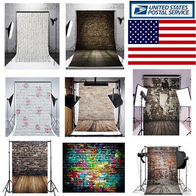 Brick 5x7FT Vinyl Studio Photography Backdrop Brick Wall Floor Background-USA