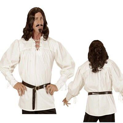Mittelalter Herren Kostüm Hemd Schnürhemd Gothic Ritter Pirat natur Gr. M/L - Piraten Männliche Kostüm