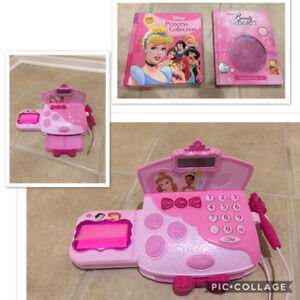 Disney princess toys and suitcase