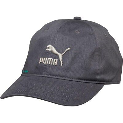 New Puma Mens Logo BB Baseball Cap, Iron Gate/Teal (Charcoal/Ecru)