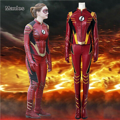 Jesse Quick Chambers Costume Cosplay Outfit Halloween Women Suit Full Set Party](Quick Halloween Costumes Female)
