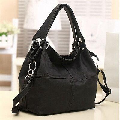 Women Leather Satchel Handbag Shoulder Tote Lady Messenger Crossbody Bag Black