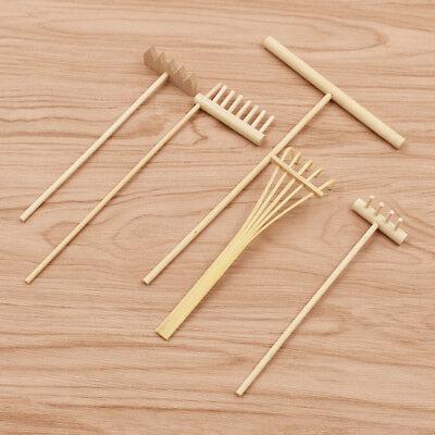 (Bamboo Rake for Zen Garden Sand Home Table Ornament Collectable Accessories)