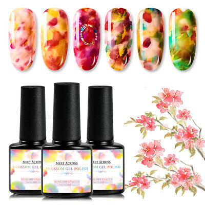 7 ML Ink Marble Blooming Gel Nail Gradient Smudge Polish Blossom Varnish Decor - Polish Decorations