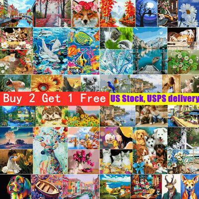 """Paint by Numbers DIY Canvas Oil Painting Kit Wall Art Decor For Beginner 16""""x20"""""""