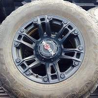 Set of 4 tires and rims 285/65R18 WORX rims 6 bolt