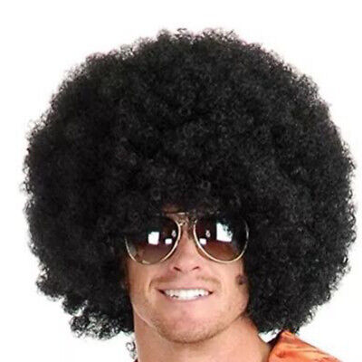 Black Big Hair Wigs Men Short Afro Curly Wig for Party Halloween Christmas Day