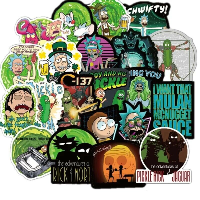 Home Decoration - 100pcs Rick And Morty Car Sticker Cute Character Stickers - BUY 2 GET 1 FREE