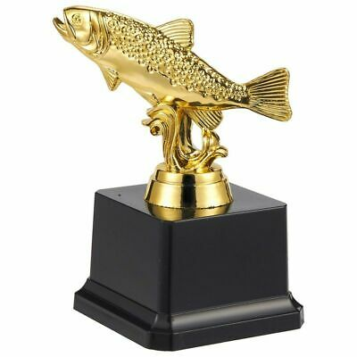 hologram fishing trophy award gold resin