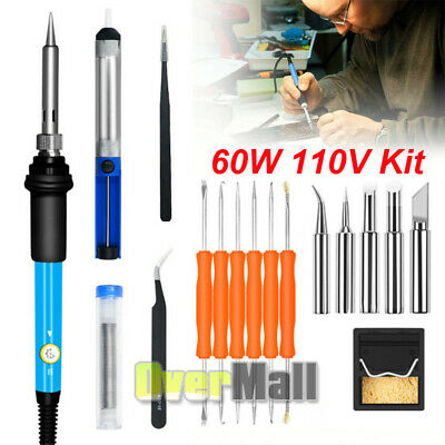 Electric Soldering Iron Gun Tool Kit 110v 60w Welding Desoldering Station Tool