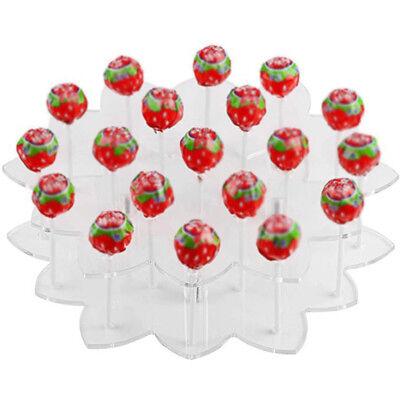 Acrylic 19 Holes Cake Pop Lollipop Cupcake Holder Display Stand Tower Bases DIY (Cake Pop Holders)