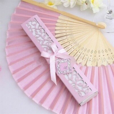 Silk Fold Hand Fan In Elegant Wedding Gift Fashion With Case Creative Manual - Silk Wedding Hand Fan