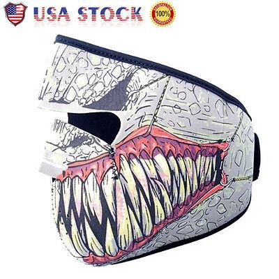 USA Winter Warm Motorcycle Cycling Half Face Mask Skull Snowboard Ski Balaclava