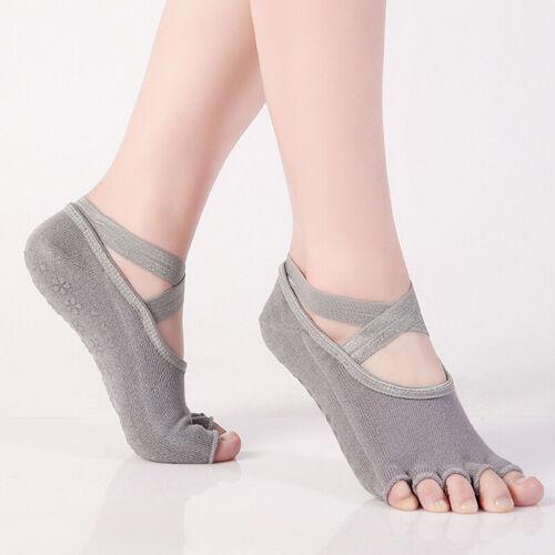 Five Toe Backless Cotton Sports Socks Anti-slip Fitness Yoga