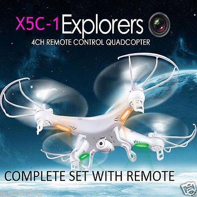 Original Syma X5C-1 Explorer 2.4GHz 4CH 6Axis Gyro RC Quadcopter Drone HD Camera
