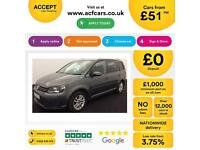 Volkswagen Touran 1.6TDI ( 105ps ) DSG 2012MY SE FROM £51 PER WEEK!