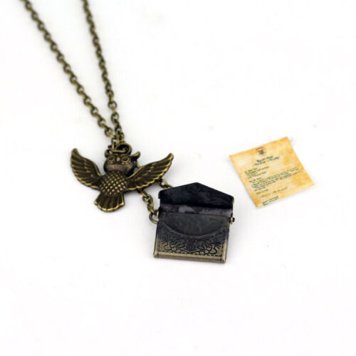 Harry Potter Post Owl With Letter Of Admission Pendant Necklace