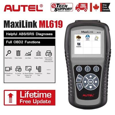 Autel ML619 AL619 OBD2 II Car Diagnostic Tool Scanner Code Reader SRS ABS Airbag