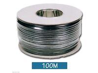 100m RG59 CCTV / Security Coax Cable BLACK - Full drum & premium quality