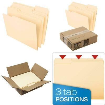 Pendaflex File Folders Letter Size 8-12 X 11 Classic Manila 13-cut Tabs In