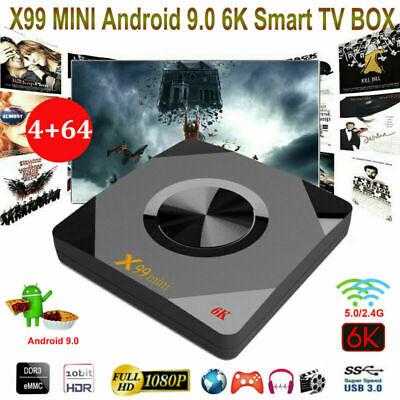 X99 MINI Smart TV Box HD WIFI 4K Android 9.0 4GB+64GB Quad Core Media WIFI X9O9
