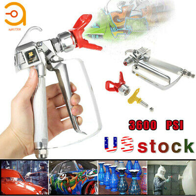 3600psi Airless Paint Spray Gun With 517 Tip Tip Guard For Sprayers Us